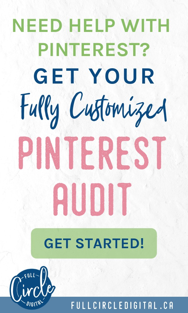 Need help on Pinterest? Get your fully customized Pinterest audit so you can start to drive more traffic to your blog.