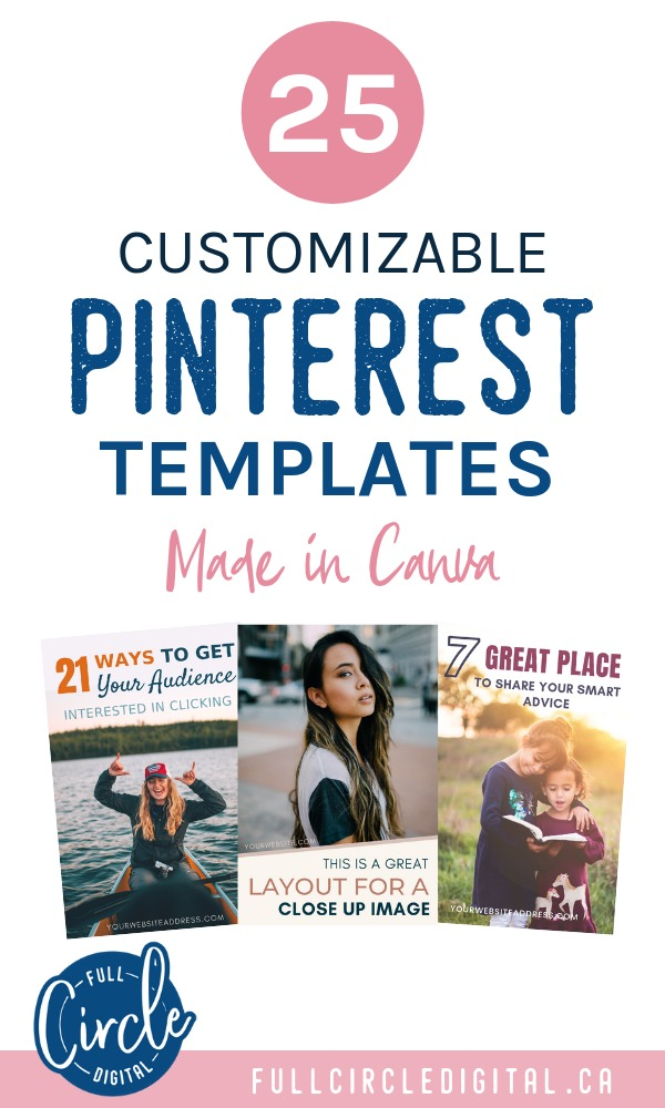 25 fully customizable and easy to edit Pinterest Templates. These pin signs are ideal for all types of content such as blog posts, products, printables and more! Editable in Canva.