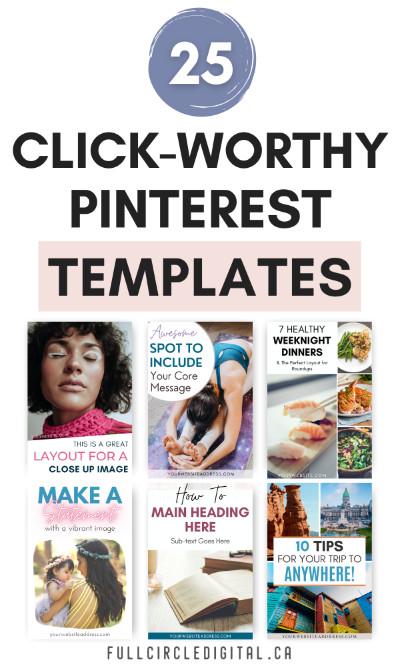 25 Click-Worth Pinterest Templates