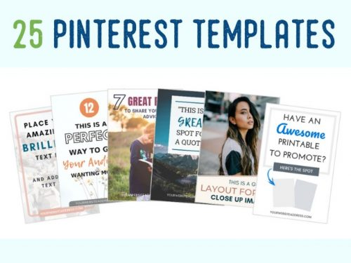 25 Pinterest Templates. Easy to Edit in Canva.