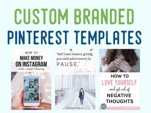 Custom Branded Pinterest Templates designed for your brand. Easy to edit in Canva.