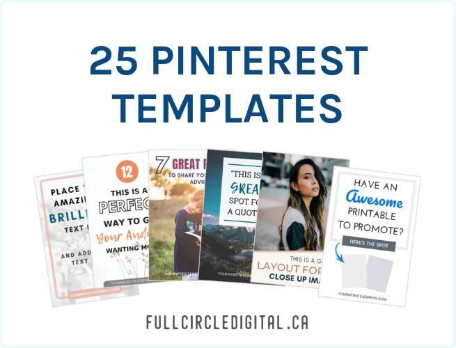 25 Pinterest Templates