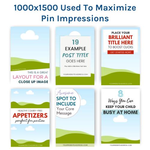 1000x1500 Pinterest Pin Templates