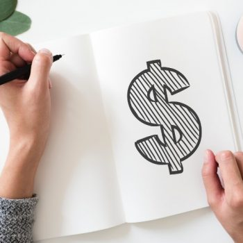 How to Make Money Blogging - dollar sign drawn in journal