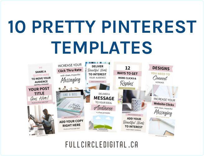 Pretty Pinterest Templates