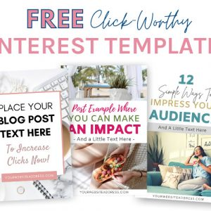 Free Click-worthy Pinterest templates for Canva