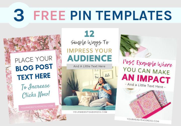3 Free Pin Templates