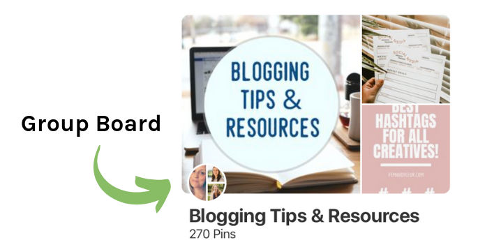 Pinterest group board called Blogging Tips and Resources