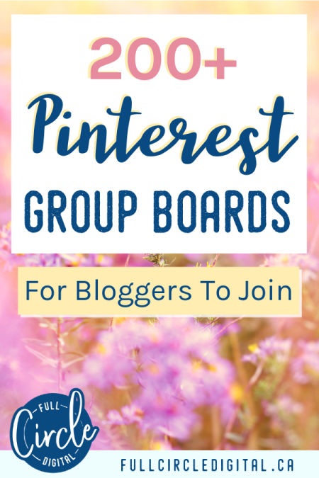 200 plus Pinterest group boards for bloggers to join
