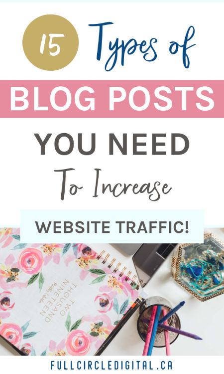 Types of blog posts to increase website traffic