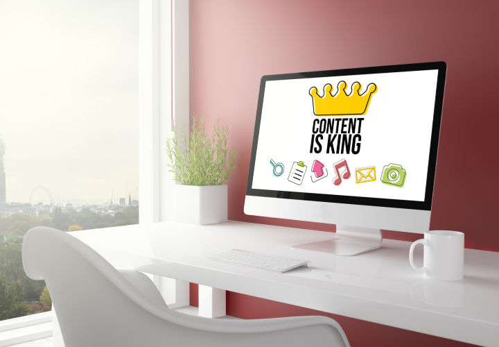 Content is king on a computer screen
