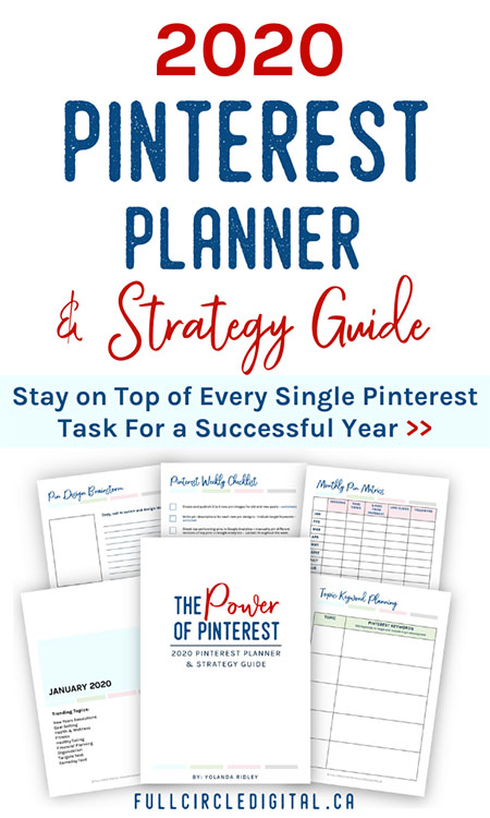 2020 Pinterest Planner and Strategy Guide. Stay on top of every single Pinterest MarketingTask for a Successful Year