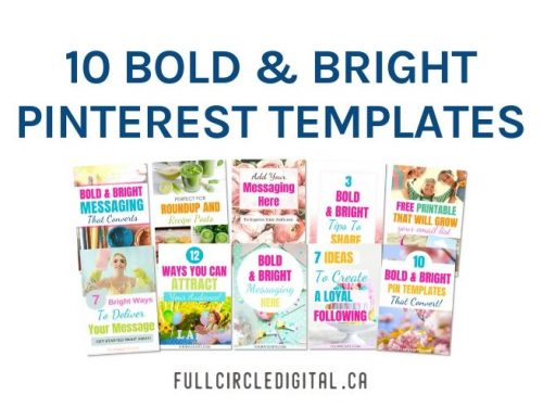 10 bold and bright pinterest templates