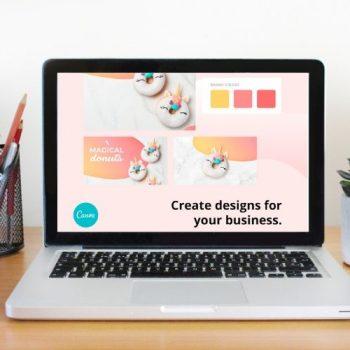 Canva Pro on laptop