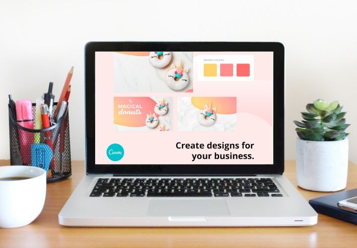 Canva Pro on laptop