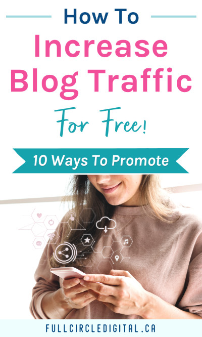 how to increase blog traffic for free. 10 ways to promote.