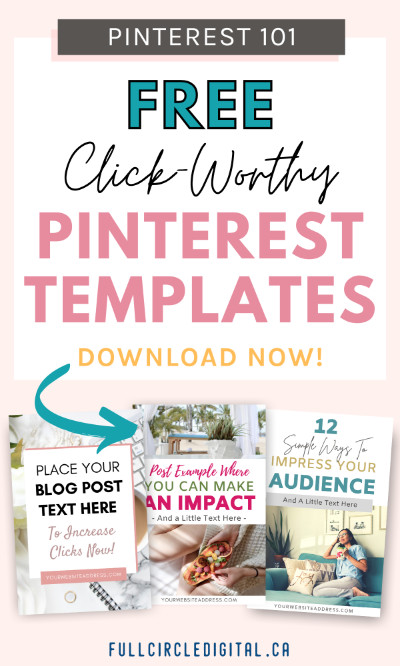 FreeFree Click-worthy Pinterest templates for Canva